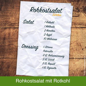 Rezept-Idee: Rohkostsalat mit Rotkohl, Kohlrabi, Apfel ...