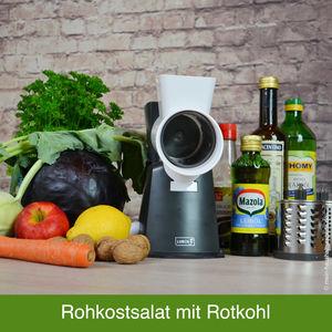 Rezept-Idee: Rohkostsalat mit Rotkohl, Kohlrabi, Apfel & Dressing