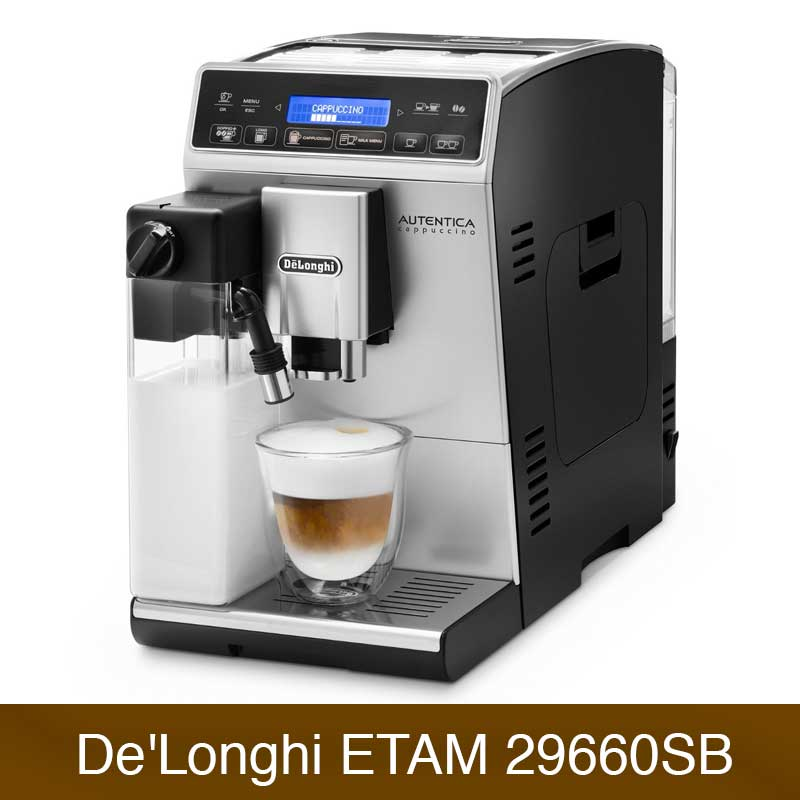 delonghi etam autentica cappuccino im vergleich kaffeevollautomaten. Black Bedroom Furniture Sets. Home Design Ideas
