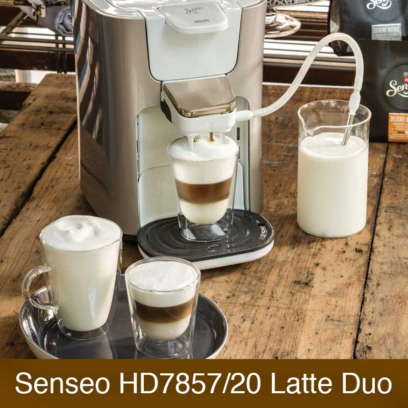 philips senseo hd7857 20 latte duo im vergleich. Black Bedroom Furniture Sets. Home Design Ideas