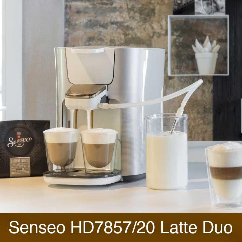philips senseo hd7857 20 latte duo im vergleich. Black Bedroom Furniture Sets. Home Design Ideas